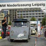 Eintreffen in Leipzig am Augustusplatz