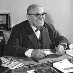 Hans Glas, Gründer der Goggomobilwerke in Dingolfing, im Alter von 70 Jahren (1960)
