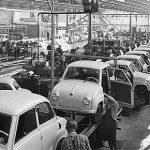 Goggomobil Produktion in der Fabrik in Dingolfing(1956)