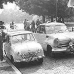 Goggo Limousine bei der 13.000 km-Zuverlässigkeitsfahrt Tour d'Europe (1956)